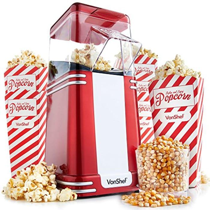 VonShef Retro Popcorn Maker - Only 24.99!