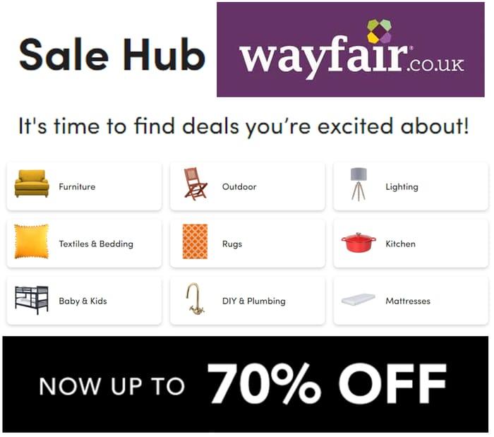 WAYFAIR SALE - up to 70% off Home & Garden