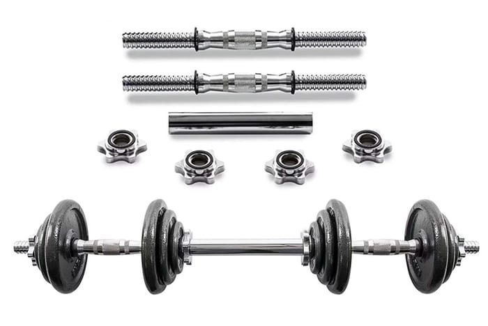 Cast Iron Dumbbell and Barbell Set - 20kg!