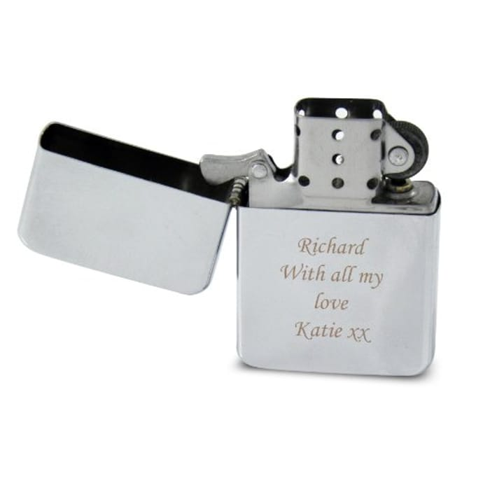 Personalised Engraved Silver Lighter - Makes an Ideal Christmas