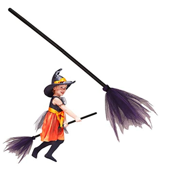 Halloween Witch Broom Plastics Witch Broom Props with £5 off Coupon