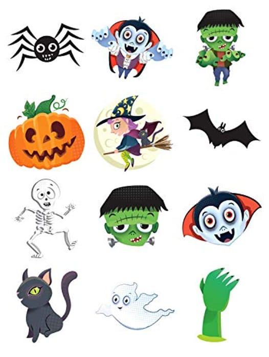 CHEAP! 48 X Spooky Halloween Transfer Tattoos