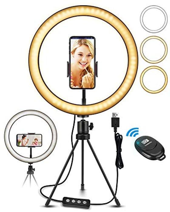 "Ring Light, 10.2"" LED Ring Light Tripod Photo Video - Only £5.40!"