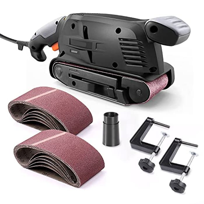 6 Variable Speed Power Sander Machine with 12Pcs Sanding Belts - Only £22.74!