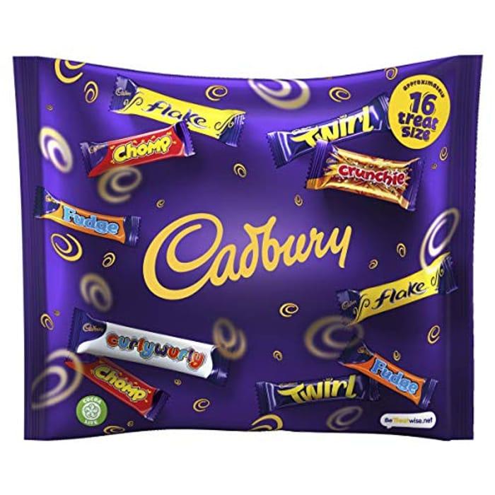 Cadbury Family Heroes 16 Treatsize Bars Packs, 222g
