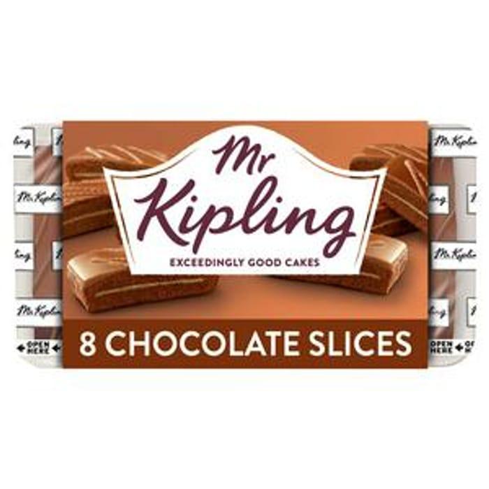Mr Kipling Chocolate Slices 8 Pk