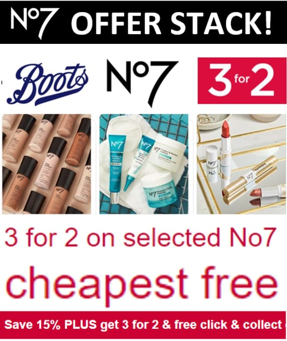 5 OFFER STACK! Boots No7 - 5 OFFERS IN ONE DEAL!