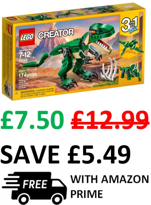 LEGO CREATOR Mighty Dinosaurs 3-in-1 | ONLY £7.50 WITH VOUCHER!