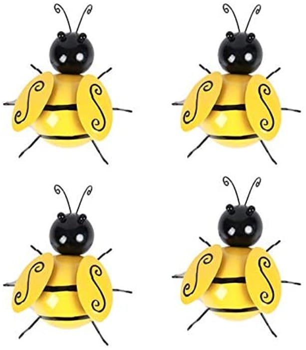 4 Pack Bee Wall Decoration