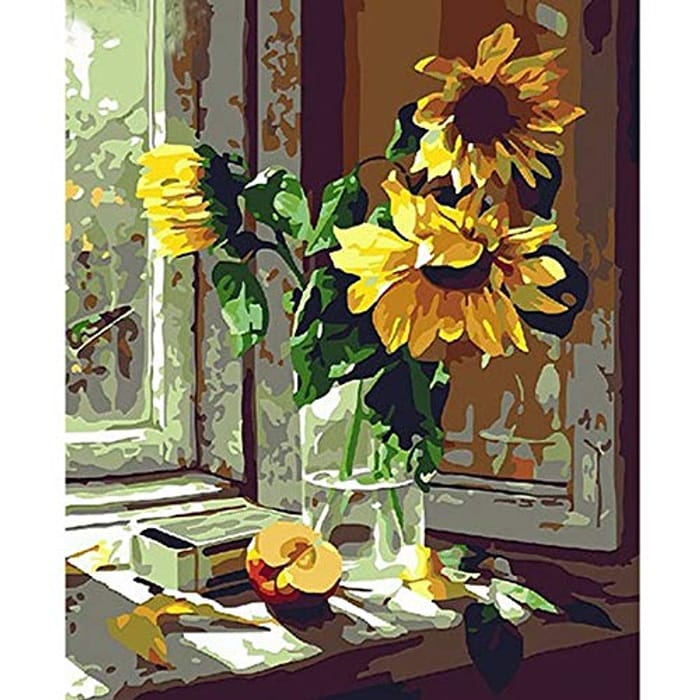 Sunflowers DIY Paint by Numbers Kit - 16x20ins