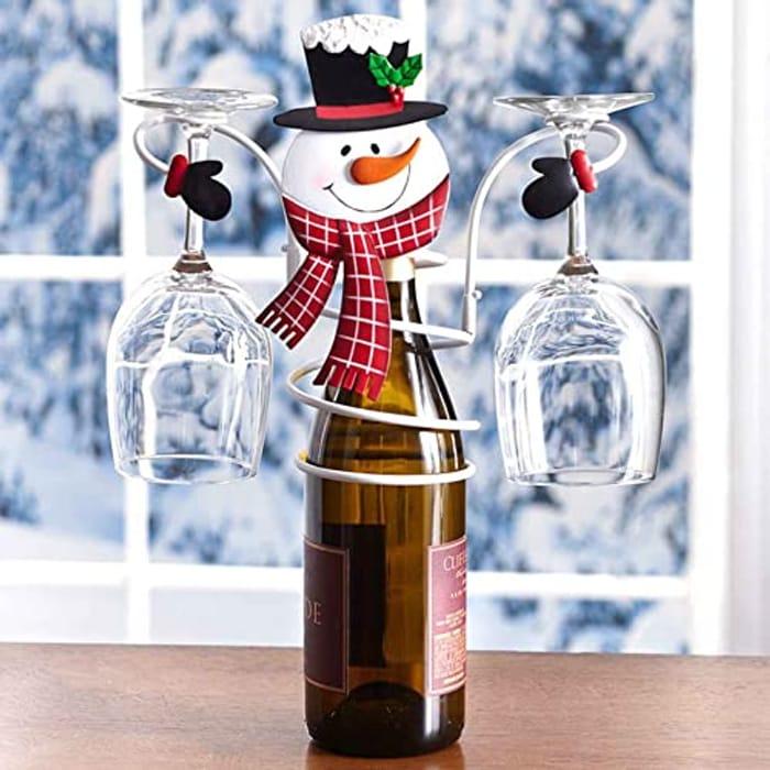Christmas Wine Bottle & Glass Holder