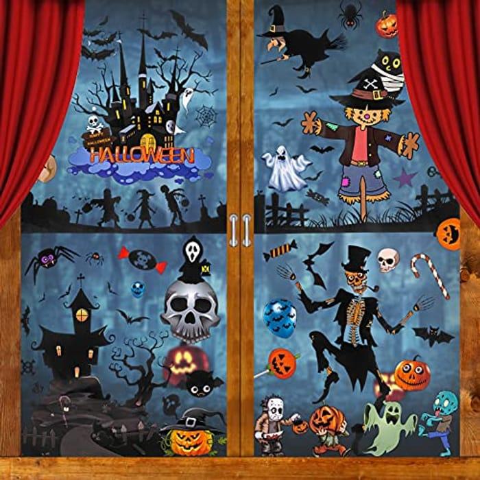 120pcs Halloween Window Cling Stickers