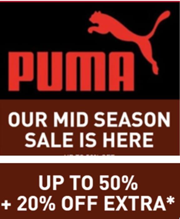 PUMA MID SEASON SALE - up to 50% OFF + EXTRA 20% OFF