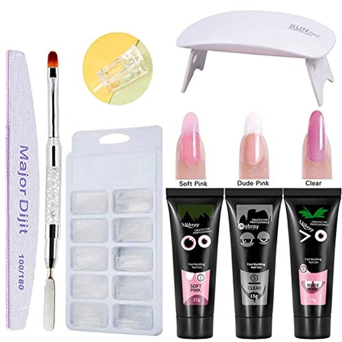 Anself Extension Nail Gel Kit with Lamp- Nails - Only £5.99!