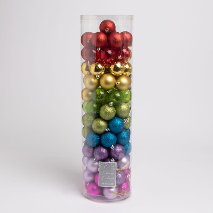 98 Rainbow Bauble Pack