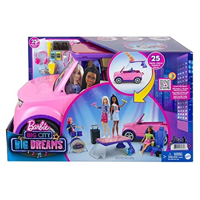 Barbie: Big City, Big Dreams Transforming Vehicle Playset - Only £45.99!