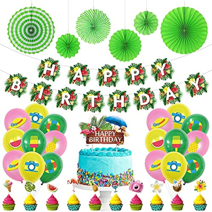 Best Price! Tropical Themed Birthday Decorations 50% Off!
