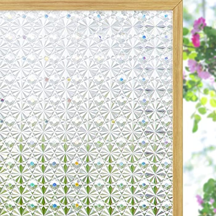 DEAL STACK - Coavas Privacy Window Film,3D Kaleidoscope Glass + 10% Coupon