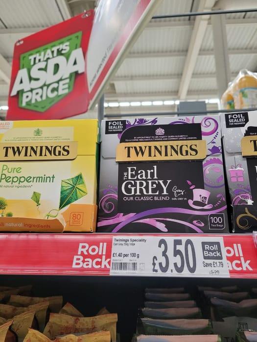 Twinings Earl Grey 100 Tea Bags  100pk