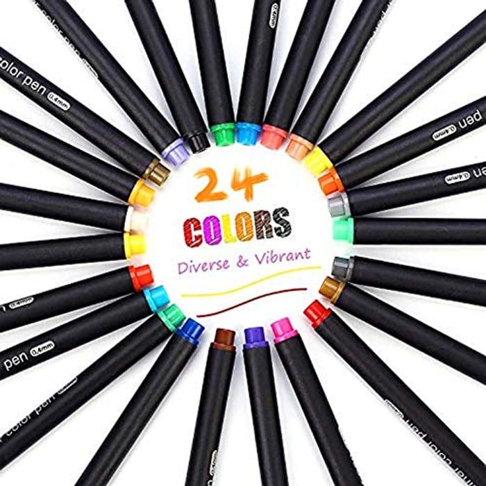 Pack of 24 Fineliner Pens