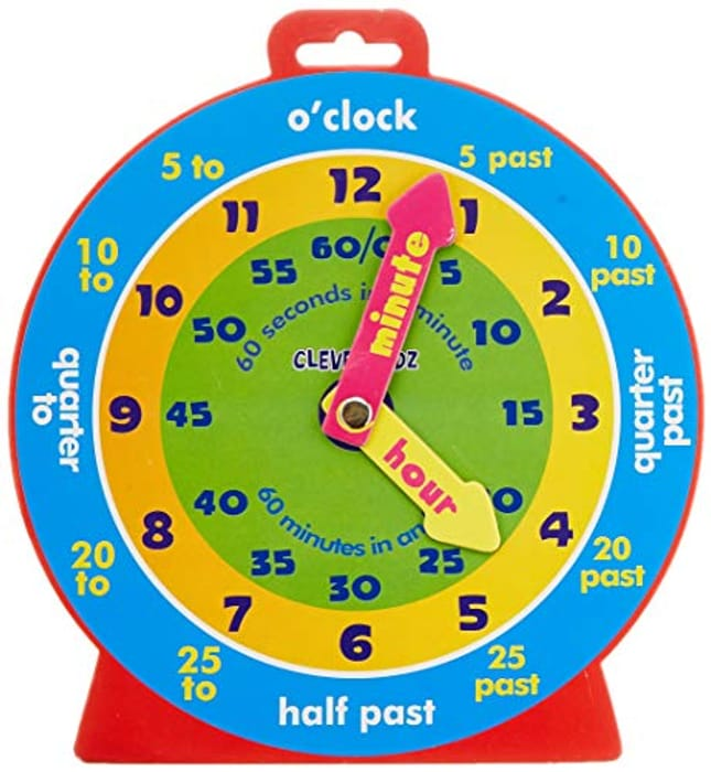 Kidz Magnetic Clever Clock - Only £2.45!