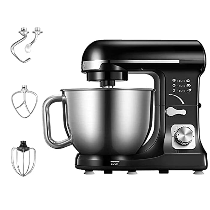 Kitchen Electric Standing Mixer with Double Dough Hook - Only £39.99!