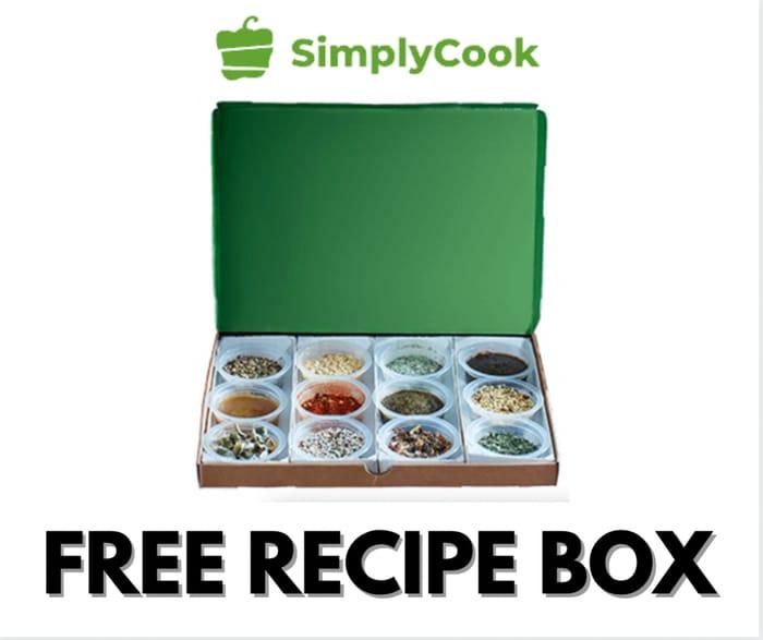 Free Recipe Box Worth £9.99 at Simply Cook (£1 P&P)