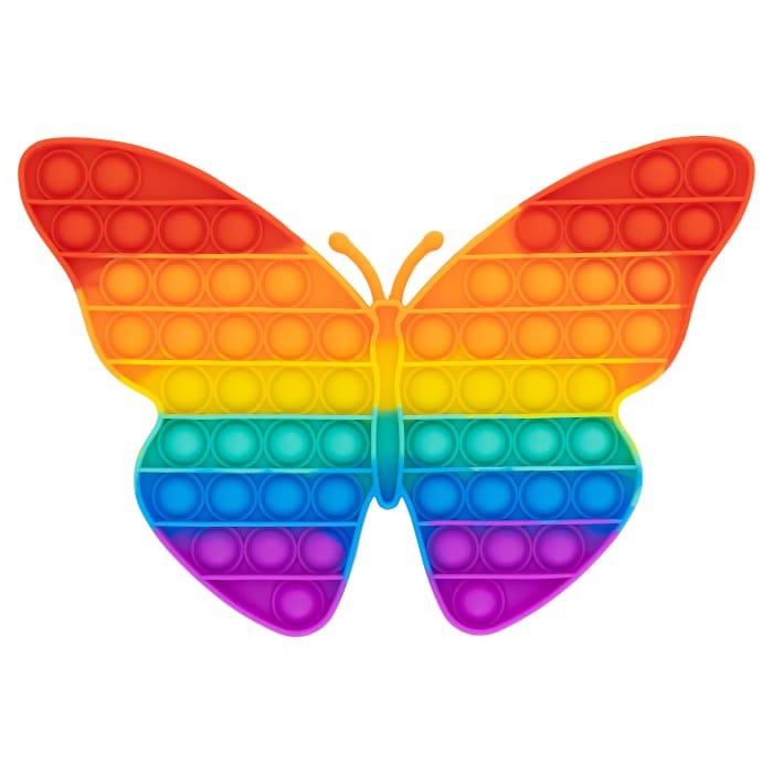 Cheap Medium Butterfly Rainbow Pop It Fidget Toy - 26 X 19cm at Only5pounds