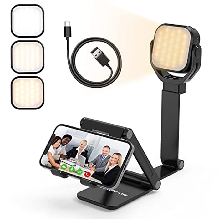 Phone Stand with Light Ring for Video, Live Streaming