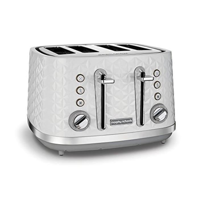 Morphy Richards Vector 4 Slice Toaster 248134 White