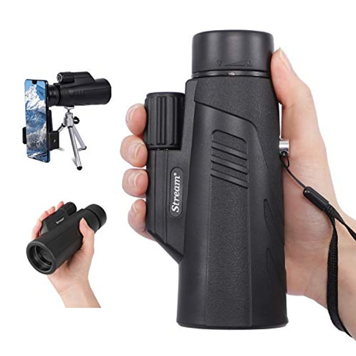 Monocular Telescope with Smartphone Holder with £10 off Coupon
