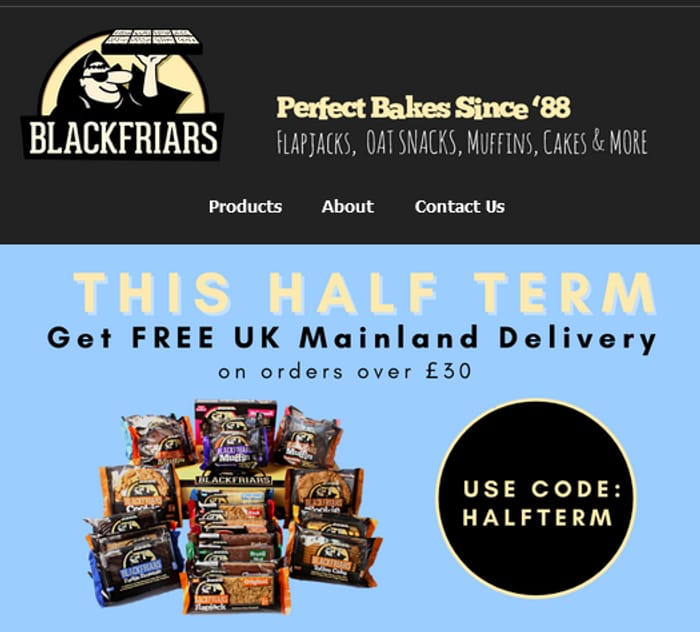 Free UK Mainland Delivery on Orders of £30 or More