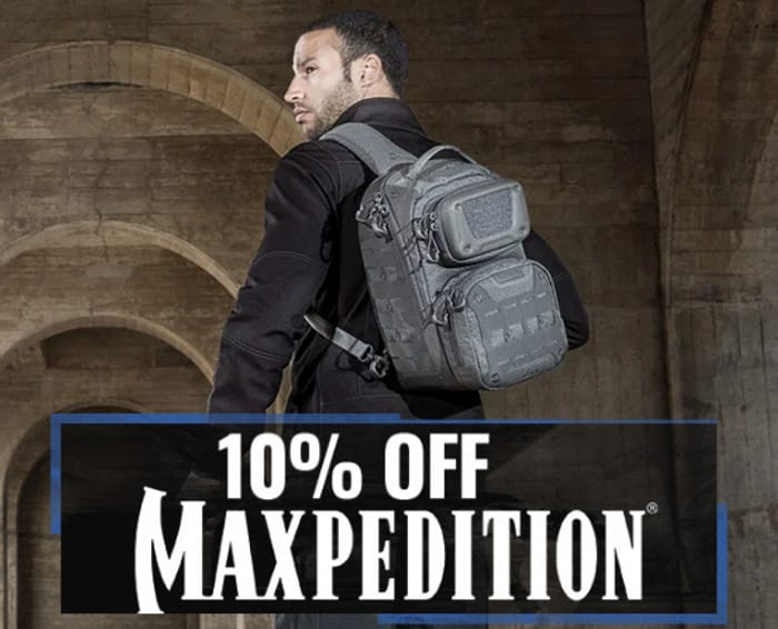 10% off Maxpedition Hard-Use Tactical Gear