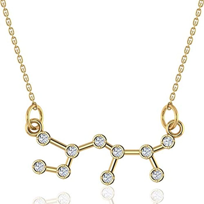 18k Gold Plated Silver Sterling Star Sign Necklace - Only £3.49!