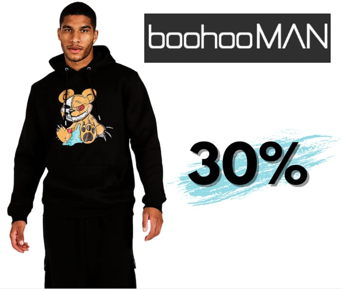 30% Off all Lines at boohooMAN + £1.99 Next Day Delivery