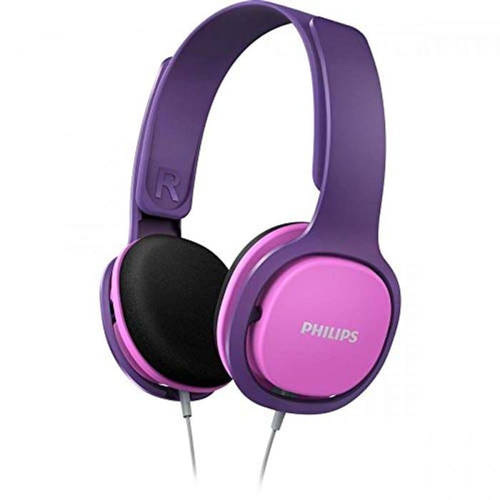 Philips Audio SHK2000PK Kids Over-Ear Noise-Isolating Headphones