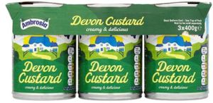3 Tins of Ambrosia Custard Only £1 at Tesco - Better Than Half Price