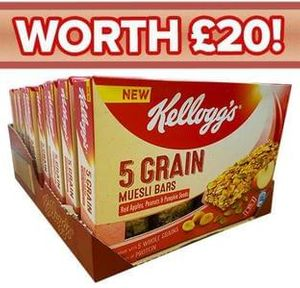 40 Kellogg's Muesli Bars for £2.99 (was £20)!