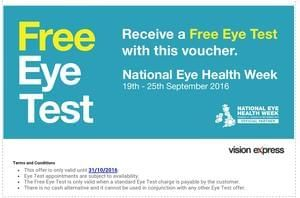 Free Eye Test With Visionexpress