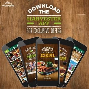 Harvester VIP Half price tonight