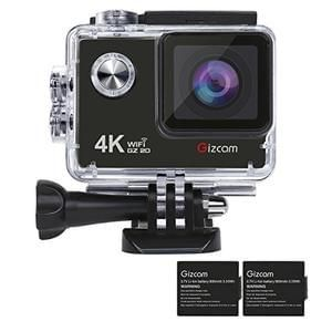 Sports Camera, 4K and 1080P, Waterproof and Wi-Fi Enabled