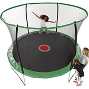 Sportspower 10 ft Quad Lok Trampoline with Easi Store Enclosure and Flash Zone
