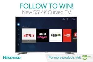 "Win A Hisense 55"" M6600 Curved TV"