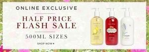 Crabtree & Evelyn Flash Sale on 500ml family sizes