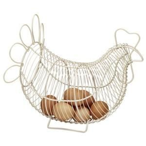 Rustic wire LARGE chicken egg basket