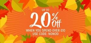 UP TO 20% OFF When you Spend Over £10 @ The Works