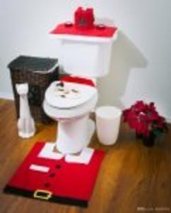 Santa Toilet Seat Cover Set Ho! Ho! Ho!