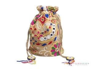 Further Reduction - Vintage look embroidered hand clutch bag on sale!!