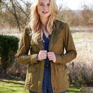 Cherokee Women's Fleece Lined Khaki Parka - Half Price at Argos