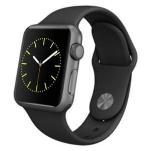 Apple Watch Sport Discount 38mm Space Grey Case and Black Band.